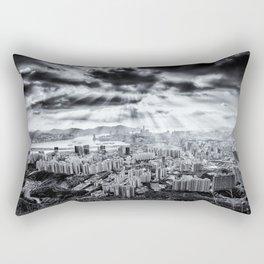 Explosion above Hong Kong! Rectangular Pillow