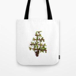 Succulent Christmas tree Tote Bag