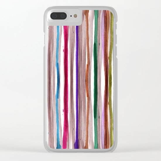 Rainbow Stripes 2 Clear iPhone Case