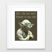 yoda Framed Art Prints featuring Yoda by DisPrints