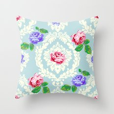 Shabby Chic Rose Pattern Throw Pillow