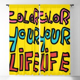 Color Your Life Writing Graffiti Positive Mind Art Blackout Curtain