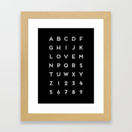 Letter Love - Black Framed Art Print