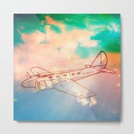 Go Places - Airplane - Sky Metal Print