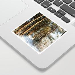 Forest Snow Scene Sticker