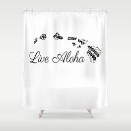 Live Aloha Shower Curtain