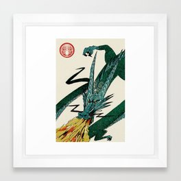 Slice & Dice - Dragon Framed Art Print