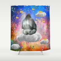 gorilla Shower Curtains featuring Gorilla by haroulita