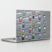 doors Laptop & iPad Skins featuring Coloured doors by Marieken