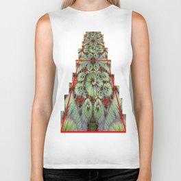 Escargot Begonias Abstract Biker Tank