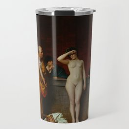 Slave Market in Ancient Rome by Jean-Leon Gerome Travel Mug