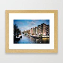 Watercolour Amsterdam. Framed Art Print
