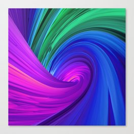 Twisting Forms #4 Canvas Print