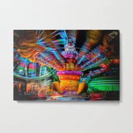 Cray Cray crazy fun at the carnival Metal Print