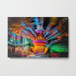 Cray Cray crazy fun at the carnival Metal Print