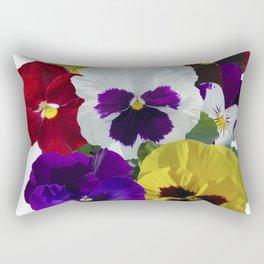 Pansies! Rectangular Pillow