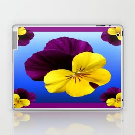 Decorative Shaded Blur Yellow-Purple Violas Art Laptop & iPad Skin