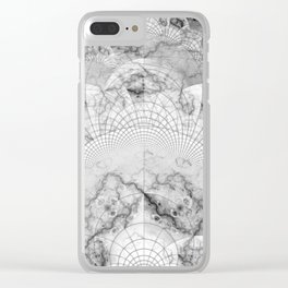 Foliated Marble as a Geometric Map of the Universe Clear iPhone Case