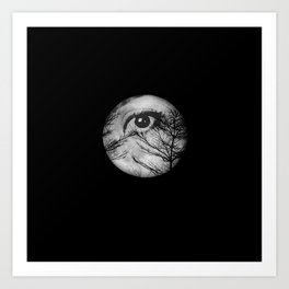 Once Upon a Blue Moon Art Print