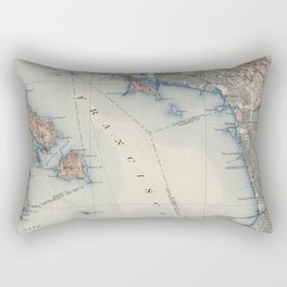 Vintage Map of San Francisco California (1914) Rectangular Pillow