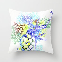 From Simplicity 2 Complexity series - Neural Network Throw Pillow