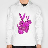 bunnies Hoodies featuring Bunnies by Christa Bethune Smith