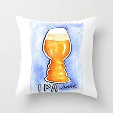 IPA Snob Throw Pillow