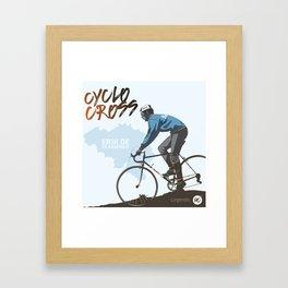 Cyclocross - Legends Erik De Vlaeminck Framed Art Print