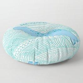 Manatees are Rotund Sea-Mammals Floor Pillow