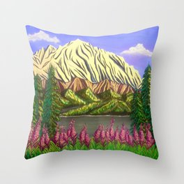 Majesty of the North Throw Pillow