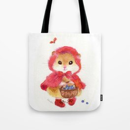 Little Red Riding Hood hamster Tote Bag