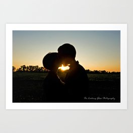 Sunset of Love Art Print