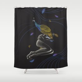 Peacock on Top Shower Curtain
