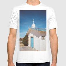 Desert Church II White MEDIUM Mens Fitted Tee