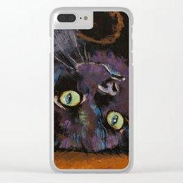 Upside Down Kitten Clear iPhone Case