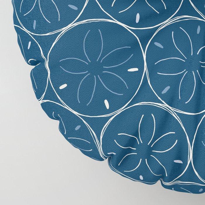 Sanddollar Pattern in Blue Floor Pillow