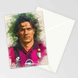 Paolo Maldini Portrait Stationery Cards