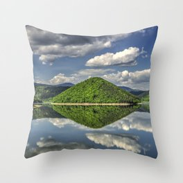 Summer reflections Throw Pillow