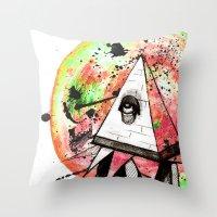 sandman Throw Pillows featuring Sandman by Logan David