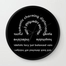 Libra typography Wall Clock