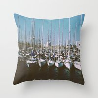 boats Throw Pillows featuring Boats by usfromars