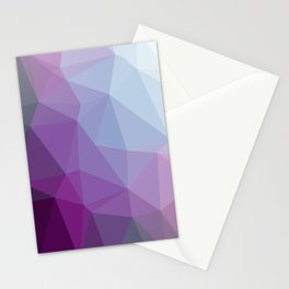 Shades Of Purple Triangle Abstract Stationery Cards