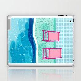 Vay-K - abstract memphis throwback poolside swim team palm springs vacation socal pool hang Laptop & iPad Skin