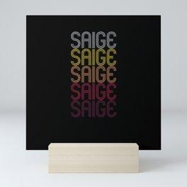 Saige Name Gift Personalized First Name Mini Art Print