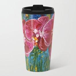 Magenta Orchids Travel Mug