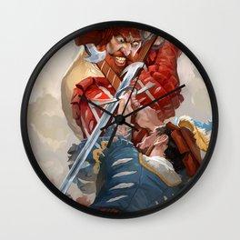 Knights fight Wall Clock