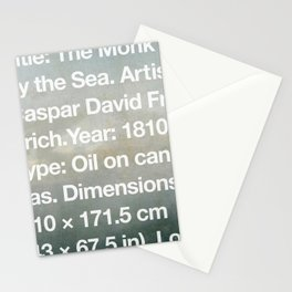 The Monk by the Sea, Caspar David Friedrich, 1810, Alte Nationalgalerie, Berlin Stationery Cards