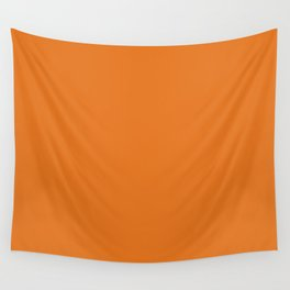 Russet Orange Pantone fashion color trend autumn fall 2018 Wall Tapestry