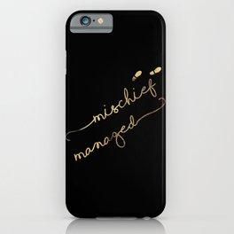 Mischief Managed (black) iPhone Case