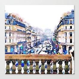 Paris Avenue De L'opera Moderne Canvas Print